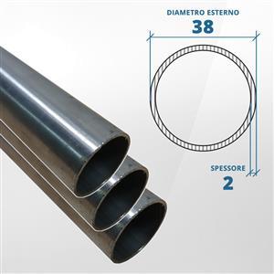 Tubo diametro 38 spessore 2 mm (opaco) - AISI 304 [Tuttoinox]
