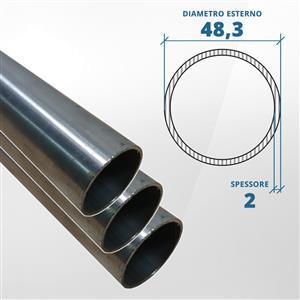 Tubo diametro 48.30 spessore 2 mm (opaco) - AISI 304 [Tuttoinox]