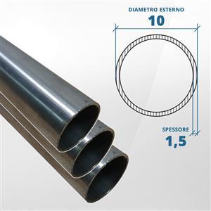 Tubo diametro 10 spessore 1,5 mm (opaco) - AISI 316 [Tuttoinox]