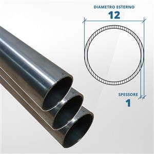 Tubo diametro 12 spessore 1 mm (opaco) - AISI 316L [Tuttoinox]