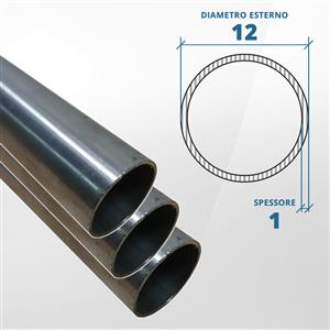 Tubo diametro 12 spessore 1 mm  [Tuttoinox]
