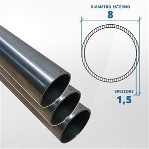 Tubo diametro 8 spessore 1,5 mm (opaco) - AISI 316L [Tuttoinox]