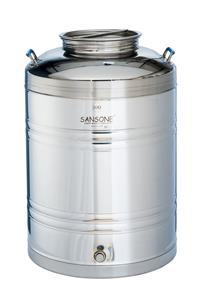 Contenitore olio e vino inox saldato da lt.100 Modello Europa [Sansone]