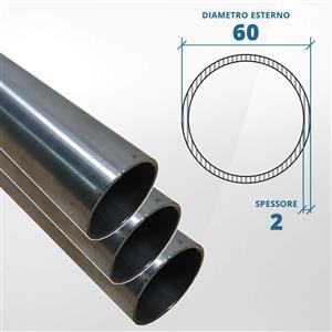 Tubo diametro 60 spessore 2,0 mm (opaco) - AISI 316L [Tuttoinox]
