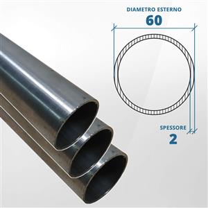 Tubo diametro 60 spessore 2,0 mm  [Tuttoinox]