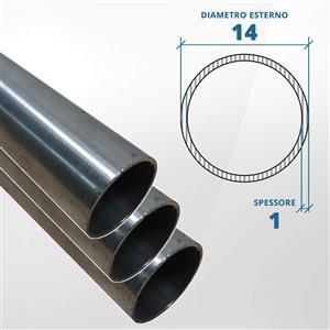 Tubo diametro 14 spessore 1 mm (opaco) - AISI 316L [Tuttoinox]