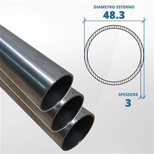Tubo diametro 48.30 spessore 3 mm (opaco) - AISI 304 [Tuttoinox]