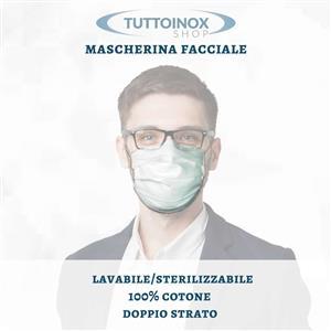 Mascherina facciale in cotone [Tuttoinox]