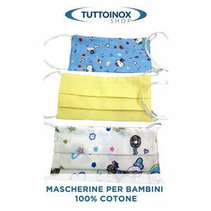 Mascherina per bambini in cotone [Tuttoinox]