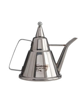Oliera in acciaio inox cl.100 con incisione personalizzata [SANSONE]