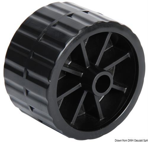 Rullo laterale nero 75 mm  [OSCULATI]