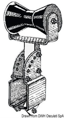 Rullo centrale reggichiglia 100 mm  [OSCULATI]