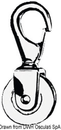 Carrucola 50 mm con moschettone  [OSCULATI]