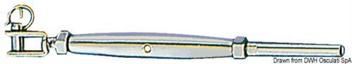 Tenditore inox 8 mm, forcella fissa  [OSCULATI]