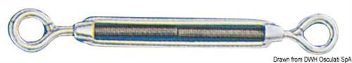 Tenditore inox 2 occhi 6 mm  [OSCULATI]
