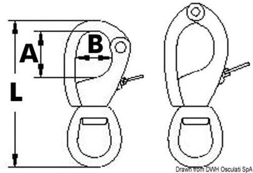Moschettoni Norseman misura 1 L  [OSCULATI]