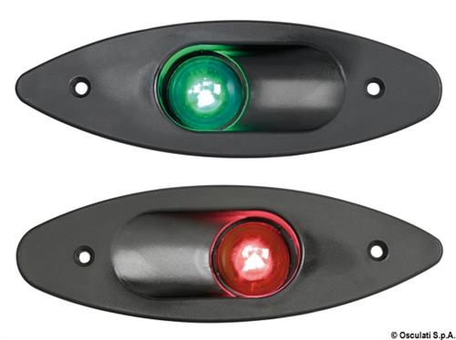 Fanale ABS ad incasso verde/nero  [OSCULATI]