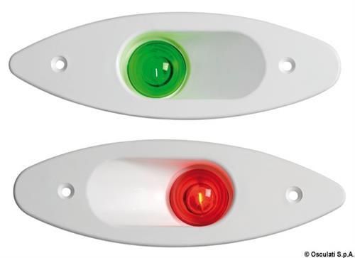 Fanale ABS ad incasso rosso/bianco  [OSCULATI]