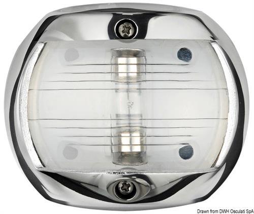 Fanale Compact 12 inox poppa bianco  [OSCULATI]