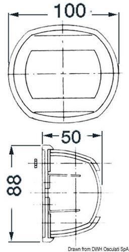 Lampadina siluro 12 V 10 W  [OSCULATI]