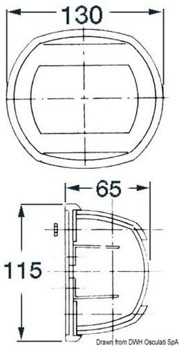Fanale Maxi 20 prua bianco/bianco 24 V  [OSCULATI]