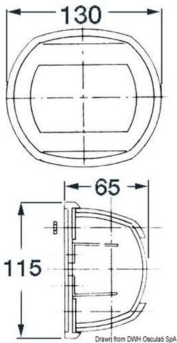 Fanale Maxi 20 poppa bianco/bianco 24 V  [OSCULATI]