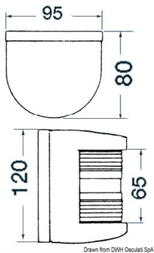 Fanale U78 testa albero bianco 24 V  [OSCULATI]