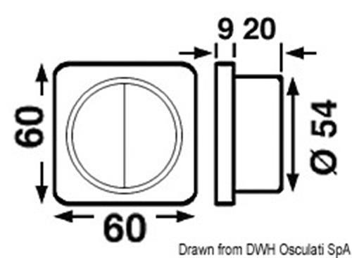 Interruttore singolo cromato/nero  [OSCULATI]