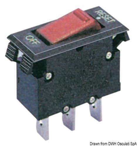 Interruttore termico a bascula 5 A  [OSCULATI]