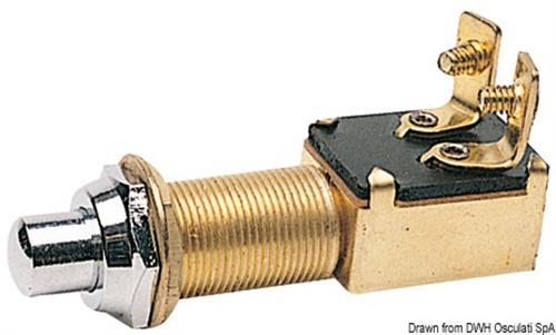 Pulsante ottone cromato 15 x 25 mm  [OSCULATI]