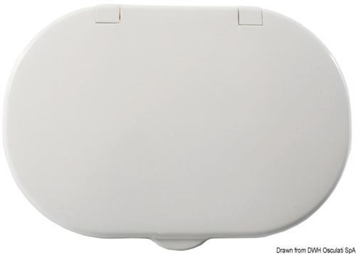 Box doccia bianco tubo PVC 4 m uscita posteriore [OSCULATI]