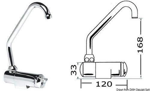 Miscelatore rotante c/f alto  [OSCULATI]