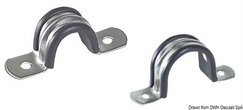 Cavallotti tubi inox/gom. 40mm  [OSCULATI]