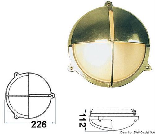 Lampada tartaruga tonda ottone  [OSCULATI]