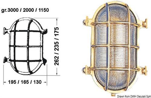 Lamp. tartaruga ovale 130x175  [OSCULATI]