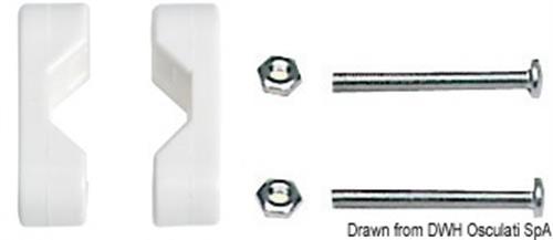 Morsetto nylon 22-25 mm  [OSCULATI]