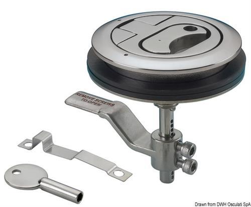 Alzapagliolo inox + serratura  [OSCULATI]