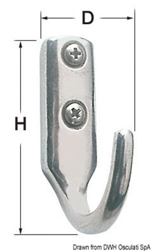 Gancetto inox  33x53 mm  [OSCULATI]