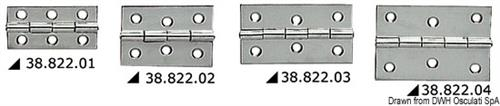Cerniera in acciaio inox mm 60x40  [OSCULATI]