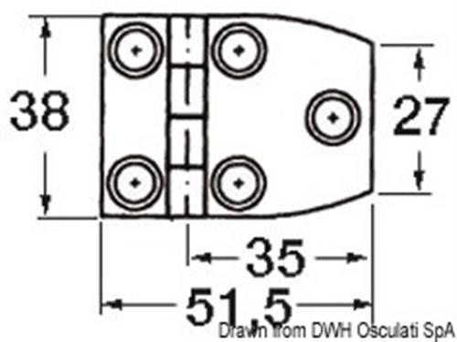 Cerniera inox cieca 51x38 trap  [OSCULATI]
