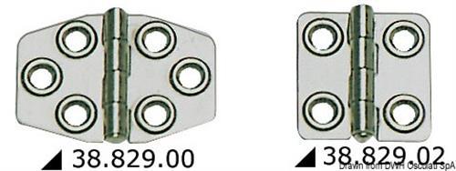 Cerniera inox mm 68x46  [OSCULATI]