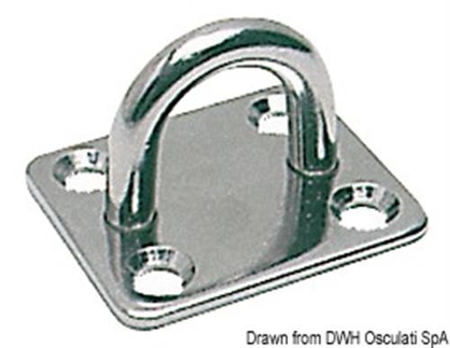 Piastrina inox filo mm 5  [OSCULATI]