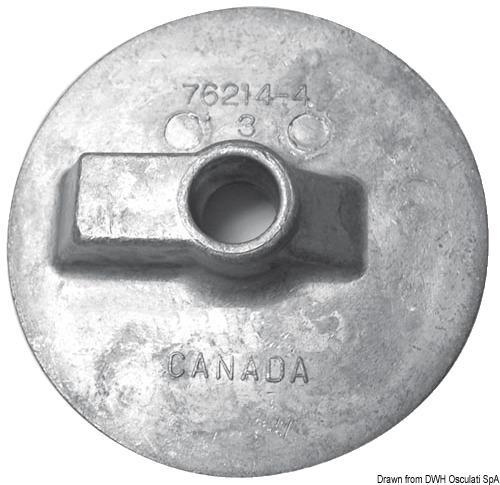 Anodo alluminio pinna piatta Bravo