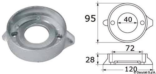 Anodo alluminio VOLVO SeaDrive  [OSCULATI]