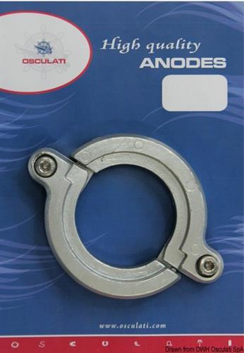 Anodo alluminio piede apribile SD20>SD50  [OSCULATI]