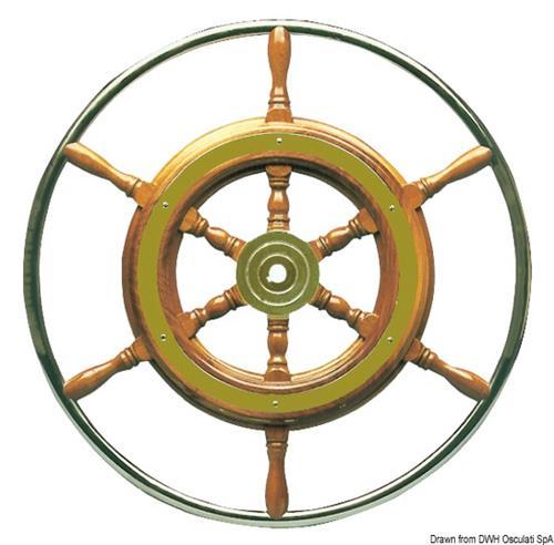 Timone con cerchio inox cm 72  [OSCULATI]
