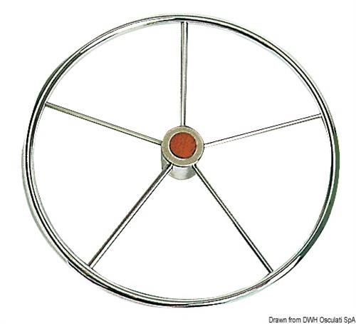 Timone ruota inox 5razze 900mm  [OSCULATI]
