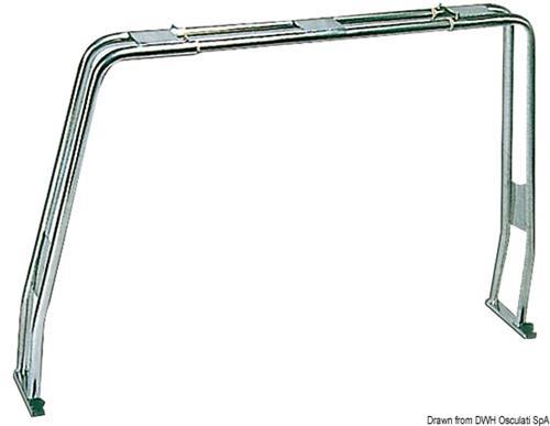 Roll bar abbattibile a compasso per barche H 130 cm, tubo da 40 mm [OSCULATI]