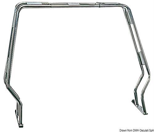 Roll bar inox abbattibile H.130 cmm tubo da 40 mm [OSCULATI]