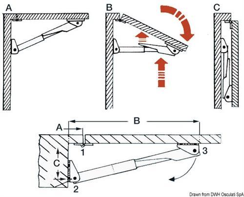 Supporti Pieghevoli Per Tavoli.Supporto Per Tavolo Pieghevole Rakego Carico120 Kg Supporti